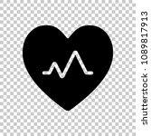 cardiac pulse. heart and pulse... | Shutterstock .eps vector #1089817913