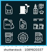 set of 9 petrol outline icons... | Shutterstock .eps vector #1089820337