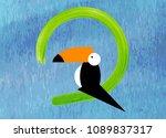 toucan icon. cartoon... | Shutterstock .eps vector #1089837317