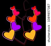 colorful heart icon isolated on ... | Shutterstock .eps vector #1089857387