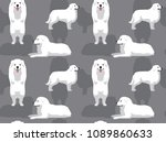 dog great pyrenees background... | Shutterstock .eps vector #1089860633