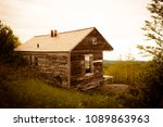 historic cabin at overlook at... | Shutterstock . vector #1089863963