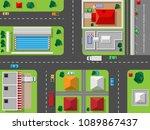 vector top view with highways... | Shutterstock .eps vector #1089867437