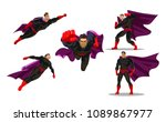 comic superhero actions in... | Shutterstock .eps vector #1089867977