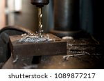 old drilling rig drilled on... | Shutterstock . vector #1089877217