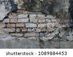 dirty concrete wall texture ...   Shutterstock . vector #1089884453