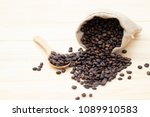 close up coffee beans in brown... | Shutterstock . vector #1089910583