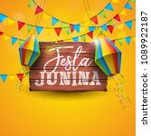 festa junina illustration with... | Shutterstock .eps vector #1089922187