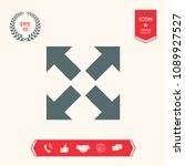 extend  resize icon. cross...   Shutterstock .eps vector #1089927527