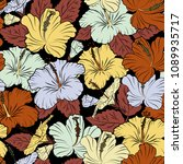 vintage abstract vector floral...   Shutterstock .eps vector #1089935717