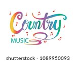 country music hand lettering...   Shutterstock .eps vector #1089950093