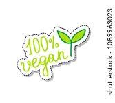 100  vegan doodle icon | Shutterstock .eps vector #1089963023