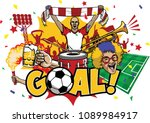 soccer design element set | Shutterstock .eps vector #1089984917