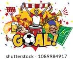 soccer design element set | Shutterstock .eps vector #1089984917