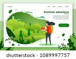 vector illustration    tourist...   Shutterstock .eps vector #1089997757