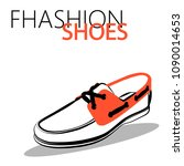 fashion shoes sketch | Shutterstock .eps vector #1090014653