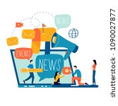 e mail news  subscription ... | Shutterstock .eps vector #1090027877