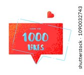 1000 likes thank you post. ... | Shutterstock .eps vector #1090032743