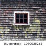 weathered cedar shingle barn... | Shutterstock . vector #1090035263