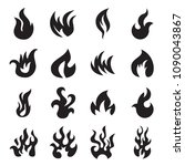 collection of 16 fire icons... | Shutterstock .eps vector #1090043867