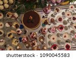 table with sweets  ice cream... | Shutterstock . vector #1090045583