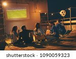 group of young friends having...   Shutterstock . vector #1090059323