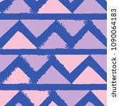seamless pattern with triangles.... | Shutterstock .eps vector #1090064183