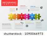 vector puzzle infographic... | Shutterstock .eps vector #1090066973