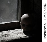 the terrible head from a doll.... | Shutterstock . vector #1090070303