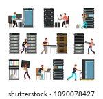 man engineer  technician...   Shutterstock .eps vector #1090078427