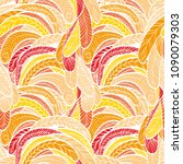 seamless hand drawn pattern... | Shutterstock .eps vector #1090079303