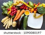 organic food background | Shutterstock . vector #1090080197