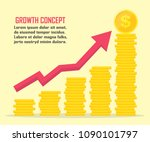 dollar growth concept. dollar... | Shutterstock .eps vector #1090101797