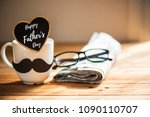 happy fathers day concept.... | Shutterstock . vector #1090110707
