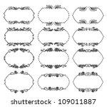 set of ornate floral vector... | Shutterstock .eps vector #109011887