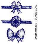 set gift bows with ribbons.... | Shutterstock . vector #109012643