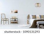 gold accents in bedroom...   Shutterstock . vector #1090131293