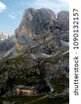 Small photo of Dolomites, Trentino Alto Adige,Italy, 09/14/2013: Refuges of Dolomites, Trentino Alto Adige, Italy.