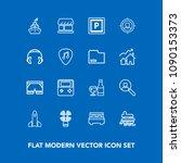 modern  simple vector icon set... | Shutterstock .eps vector #1090153373