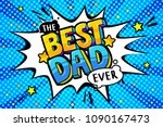 best dad message in sound... | Shutterstock .eps vector #1090167473
