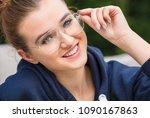 beautiful girl or young woman... | Shutterstock . vector #1090167863