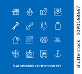 modern  simple vector icon set... | Shutterstock .eps vector #1090168667
