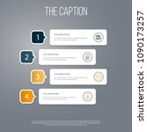 icon line education set of... | Shutterstock .eps vector #1090173257