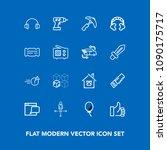 modern  simple vector icon set... | Shutterstock .eps vector #1090175717