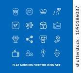 modern  simple vector icon set...   Shutterstock .eps vector #1090186037