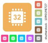 microprocessor 32 bit... | Shutterstock .eps vector #1090198727