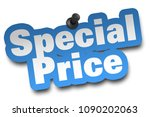 special price concept 3d... | Shutterstock . vector #1090202063