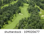 aerial view of golf fairway and ... | Shutterstock . vector #109020677