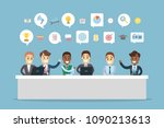 people meeting together for... | Shutterstock .eps vector #1090213613