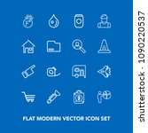 modern  simple vector icon set...   Shutterstock .eps vector #1090220537
